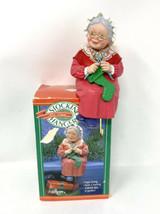 Hallmark Christmas Vintage Mrs. Santa Claus Stocking Hanger Holder W/ Bo... - $14.03