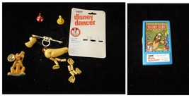 Disney Pluto Vintage Toy Lot Gabriel Disney Dancer Mini Marionette & More - $26.99