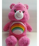 """Care Bears Plush Stuffed Animal Toy Pink Bear 14"""" Tall  10"""" Wide Preowned  - $34.65"""