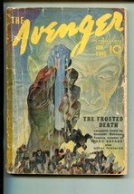 Avenger 01/1940-STREET & SMITH-THE Frosted DEATH-PULP-good - $80.70