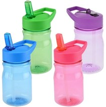 10ct Kids water bottles with straw MIX COLORS perfect party favors BPA FREE - $34.60