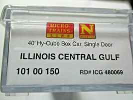 Micro-Trains # 10100150 Illinois Central Gulf 40' Hy-Cube Box Car N-Scale image 6