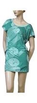 NEW Nordstrom Diesel Ceines Retro Style 60's Mod Teal Blue Print Dress S... - $58.80