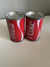 "Coca Cola  2-1/2"" MINI Metal Coke Can Salt & Pepper Shakers - $9.50"