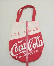 Coca Cola Canva Bag with Button Magnets UsedDrink Ice Cold Sign Of Good ... - $58.20