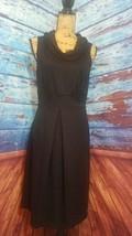 Spense womens dress size 10 black sheath cowl neck - $20.90