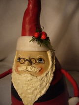 Bethany Lowe Robin Seeber Fat Santa with Candy Cane no. RS 9476 image 6