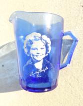 Vintage Shirley Temple Cobalt Blue Glass Creamer Pitcher Hazel Atlas - $29.99