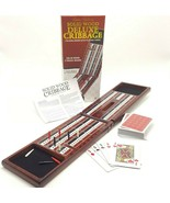 Solid Wood Deluxe Cribbage Folding Board 3 Track With Cards 9 Pegs Cardinal - $19.99
