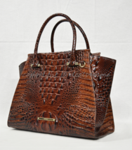 NWT! Brahmin Priscilla Leather Satchel/Shoulder Bag in Pecan Melbourne - $339.00