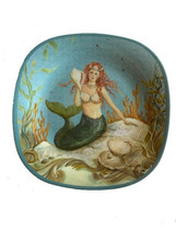 Mermaid Melamine Plates 10.5 Set of 4 Certified International Kate Mcros... - $44.44