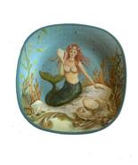 Mermaid Melamine Plates 10.5 Set of 4 Certified International Kate Mcros... - $44.44