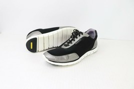 Cole Haan Womens Size 7 Zerogrand Grand.OS Lace Up Sneaker Shoes Black Silver - $106.00 CAD