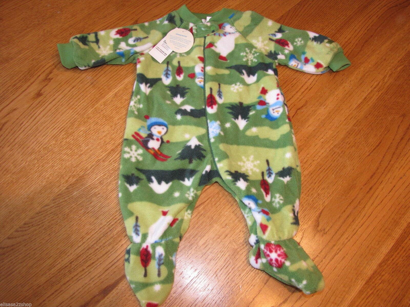 The Children's Place Baby Girls Footie PJ sleepwear 0-3 months green NWT*^ - $4.27
