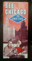 1964 CHICAGO ILLINOIS GRAY LINE BUS TOURS BROCHURE GUIDE VINTAGE TRAVEL - $9.49