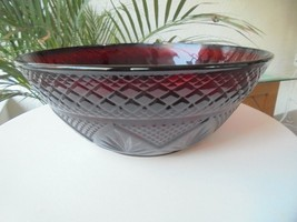 Cris D'Arques Antique Pattern Ruby Red Salad Bowl - $19.80