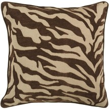 "Diva At Home 22"" Brown and Beige Hot Animal Print Decorative Throw Pillow - $64.34"