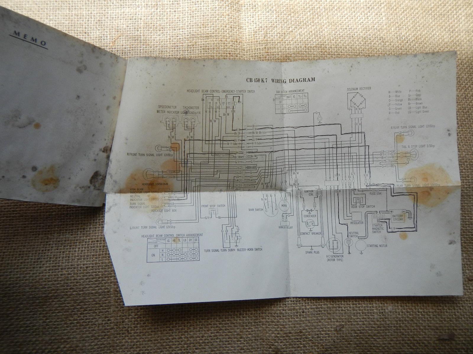 Admirable 1974 74 Honda Cb450 Cb 450 Owner Owners And 50 Similar Items Wiring Database Gramgelartorg