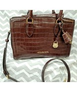 Michael Kors ZOE SATCHEL Croc Leather Handbag Purse Shoulder Bag BAROLO ... - $148.49