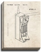 Portable Telephone Patent Print Old Look on Canvas - $39.95+