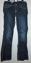 New! SILVER Jeans Frances Girls Sz 18 Dark Wash Bootcut Thick Stitch W 2... - $39.99