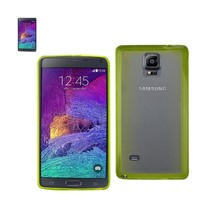 REIKO SAMSUNG GALAXY NOTE 4 CLEAR BACK FRAME BUMPER CASE IN GREEN - $7.95