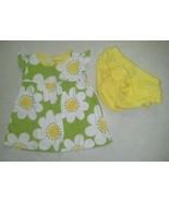 NWOT Girl's 9 Months 2 Piece Green W/ White Flower 2 Piece Outfit Carter... - $12.50