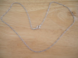 """Sterling Silver Figaro Chain/ Necklace (2mm Wide) ~ 18"""" ~ 2.7g - $18.29"""