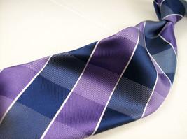 New CHAPS  Thin PURPLE PLAID    Mens 100 SILK Necktie  8-1213 - $15.99