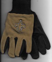 New Orleans Saints team Sport Utility Gloves gold brown garden NFL Footb... - $17.77