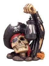 Captain Bone's Pirate Solar Lantern Outdoor Statue Decoration, 13 Inch - $54.31