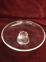 Vintage Steuben Crystal Glass 8in  Serving Plate Pedestal Base Signed Ar... - $98.50