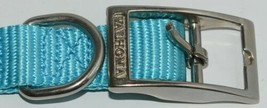 Valhoma 730 18 TQ Dog Collar Turquoise Single Layer Nylon 18 inches Package 1 image 2