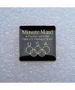 "1984 Los Angeles Olympics Sponsor Pin ""Minute Maid"" Team USA - $8.90"