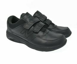 New Balance 813 Men's Sz 12D EU 46.5 Black Leather Loop Strap Comfort Walking - $39.99