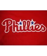 MLB Philadelphia Phillies Baseball Sportswear Fan Apparel Red T Shirt Si... - $17.46