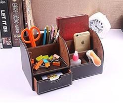 Office Supplies Desk Organizer Pen Pencils 6 Slots iPhone Caddy Storage ... - $35.36