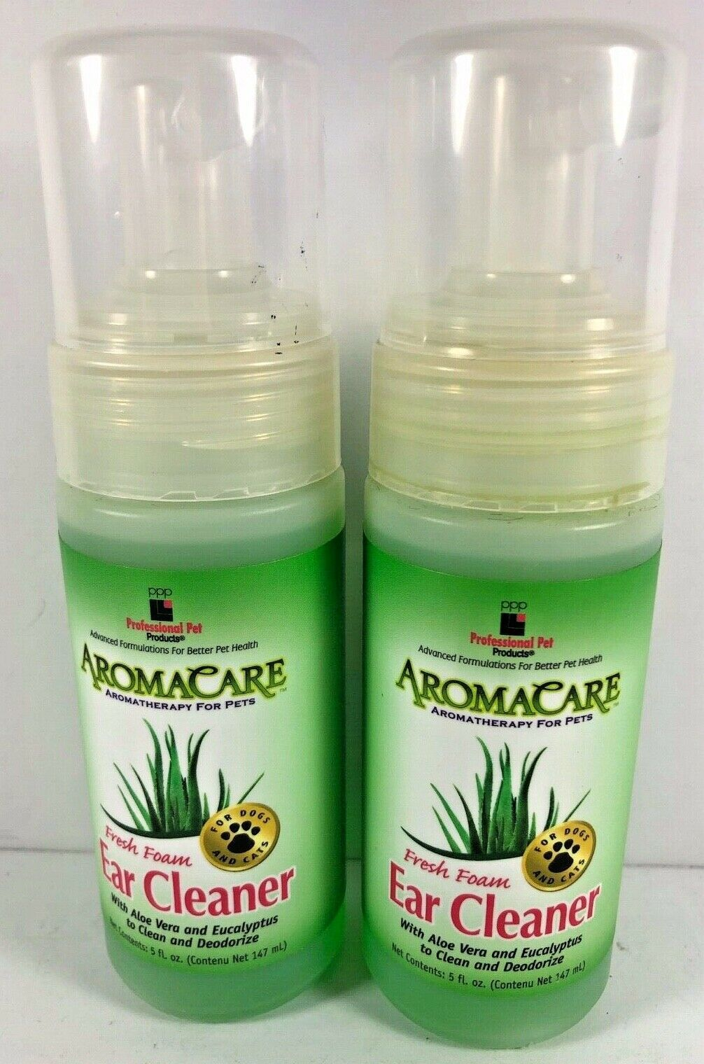 Primary image for Lot of 2 Professional Pet Products AromaCare Fresh Foam Pet Ear Cleaner 5 oz ea