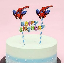 SPIDER-MAN  Cake topper Banner 1 set(Generic)For Small ,standard Cake size  - $6.36