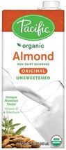 Pacific Foods Organic Almond Non-Dairy Beverage, Unsweetened Original, 32-Ounce,