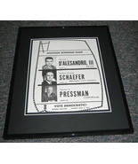 1967 Baltimore Democratic Original Framed Advertisement Photo 11x14 - $41.71