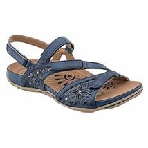 Womens Earth Maui Indigo Blue Leather Strap Sandals [601792WLEA] - $82.99