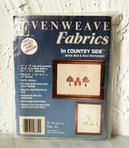 Regency Mills Evenweave Brick Red & Blue 14 Ct Aida Cross Stitch Fabric ... - $6.60