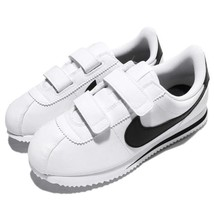 Nike Cortez Basic SL White/Black Leather 904767-102 preschool Kids Shoes - $54.95
