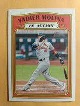 TOPPS HERITAGE 2021 CARD #18 YADIER MOLINA - $1.59