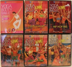 6 Yoga Booty Ballet workout DVD lot cardio burlesque hip hop abs latin f... - $18.99