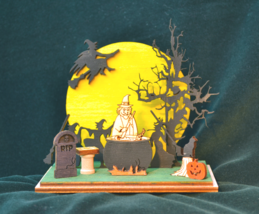 GINGER COTTAGES GINGER BOO! WITCH'S CONVENTION HALLOWEEN HOLIDAY ORNAMEN... - $19.88