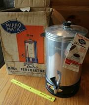 Mirro Matic Coffee Percolator Urn Model M-0126 35 Cup Electric NO POWERCORD - $27.62