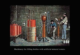 Machinery for Filling Bottles with Artificial Mineral Waters by John How... - $19.99+