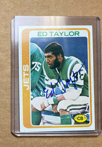 1978 Topps Ed Taylor #227  Autographed Card New York Jets - $14.99